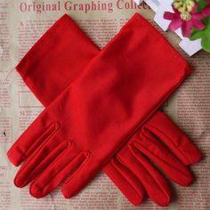 Hot Sale Evening Party Formal Prom Stretch Satin Gloves Women sale WOMEN ACCESSORIES luvas de inverno feminina