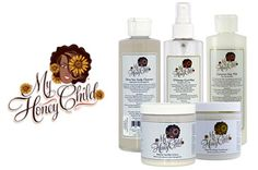 """My Honey Child""""With my many years of being a cosmetologist and being natural I have worked with many textures and have spent endless hours researching hair textures. Natural hair is my business. The most common problem I hear from clients is dryness, breakage and moisture. My research and interest lead me to create My Honey Child Products for people with hair like mine and to alleviate the lack of moisture.""""  - Krika Brasher, Founder of My Honey Child"""