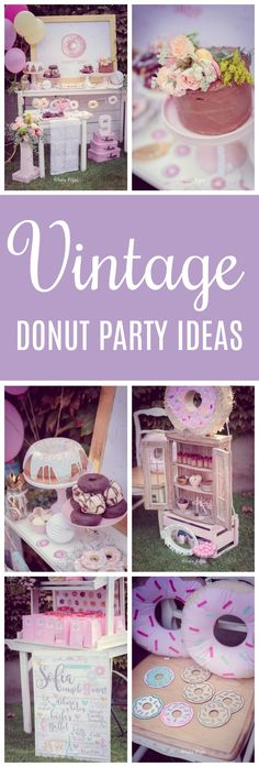 Vintage Donut Birthday Party Ideas on Pretty My Party