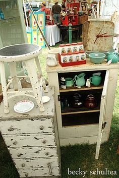 fun flea market goodies - from Funky Junky Peely Paint at Texas Rose near Round Top