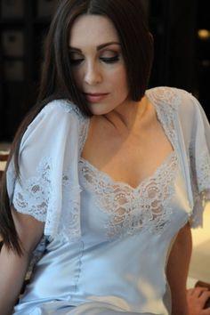 Silk & Lace Designer Nightdress - Jane Woolrich 8675