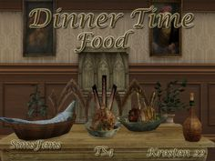 This set includes 9 pieces: - Bottle - Bottle 2 - Cheese - Chicken - Fish - Fresh Chicken - Fruit - Game - Prok http://simsfans.forumfree.it/?t=70889309