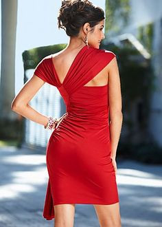 assymetric red dress back Dress Skirt, Wrap Dress, Venus Swimwear, Latest Fashion For Women, Womens Fashion, Mix And Match Bikini, Swimsuits, Bikinis, Shades Of Red
