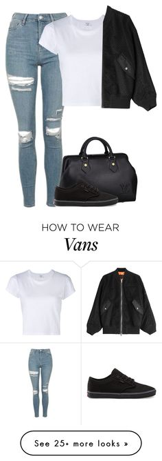 """Untitled #7958"" by fanny483 on Polyvore featuring Louis Vuitton, Topshop, RE/DONE, Vans and Alexander Wang"
