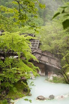 Shirahone onsen, Nagano prefecture, located in the Chūbu region of the island of Honshu, Japan (photo by Christian Rudelle, June 2014)