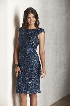 K6765, knee-length, beautiful, beaded dress