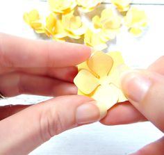 DIY Paper Flower Hydrangeas Creating paper hydrangeas was one of my biggest challenges to figure out because I needed the...