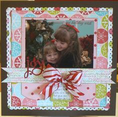 Day 15 May's Layout-a-Day challenge. Patterned papers Scenic Route, cardstock Bazzil, letter stickers Making Memories, ribbon Joann etc.