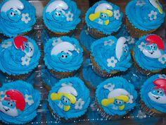 Smurf cupcakes.