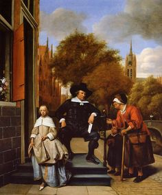 The Athenaeum - The Burghermeister of Delft and His Daughter (Jan Steen - )