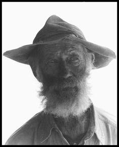 Eldridge—farmer, teller of stories,  outside his home on Beaver Lick Mountain, Pocahontas County, West Virginia. December 2005.
