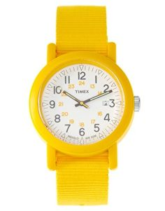 Lemon-yellow Timex--I'd wear it for the pick-me-up factor alone!!