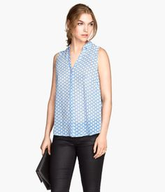 H&M sleeveless blouse - in white, light blue, and grey. $9.95