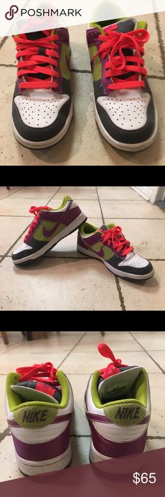 bf252a829d6 Nike Dunk Low 6.0 BRIGHT CACTUS RED PLUM 314141-300 Hear were barely worn