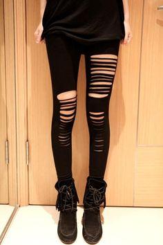 Leggings Fantaisie Mise Ripped Legging – Modebuy.com