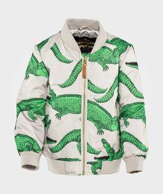 Crocodile Aop Jacket Grey ss-15