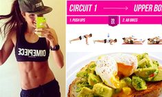 Instagram star Kayla Itsines shows how to get a fit body fast - good foods and circuits of exercise