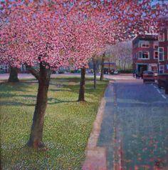 Ton Dubbeldam, Voorjaar, 45 x 45 cm