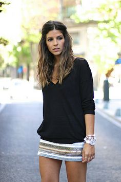 trendy_taste-look-outfit-street_style-ootd-blog-blogger-fashion_spain-moda_españa-striped_skirt-golden_silver-falda_rayas-dorado_plateado-bo...