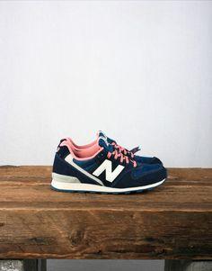 New Balance Women's WR996 - Blue / Pink #Sneakers #shoeporn #ELLE