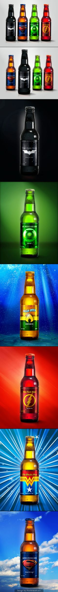 League of Justice Beer: Warning the Aqua beer is watered down!