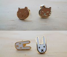 Cat & Bunny Studs. I just want the cats.