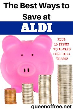 Check out the best ways to save money at ALDI PLUS a list of 15 items you should always purchase there.