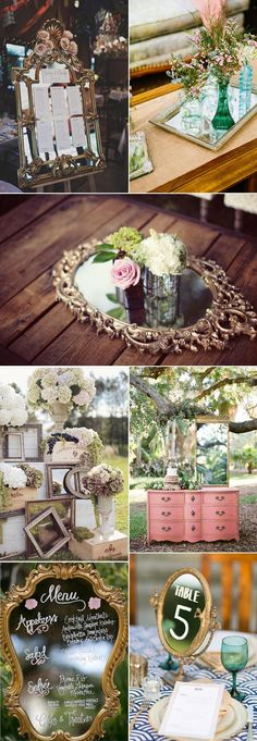 decorate your vintage weddings with mirrors