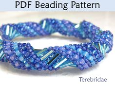 """Terebridea"" Russian Spiral Stitch PDF Beading Pattern"