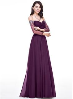 fbead42ef203 Off Shoulder Evening Gown With Sweetheart Neckline in 2019
