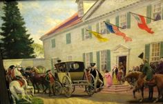 """""""George Washington Leaving Mount Vernon For His Inauguration As President In New York City"""" by John Ward Dunsmore"""