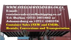 Stella Containers - Container sale, rental, transportation, design and conversion of shipping containers. Shipping Containers For Sale, Cover Photos, Conversation, Transportation, Google, Products, Gadget