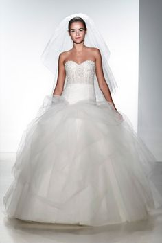Kenneth Pool wedding dress from the Spring 2014 bridal collection | via junebugweddings.com