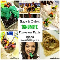 """DINOmite"" party food ideas"