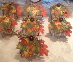 Curvey Keepsake Boxes using Expressions Thinlits Dies and Autumn Accents Bigz Die from Stampin Up.
