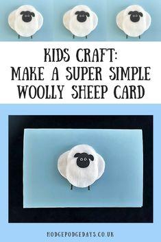 Kids Craft: Make a Super Simple Woolly Sheep Card