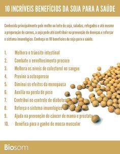 Clique na imagem e veja os 10 benefícios da soja para a saúde. #alimento…