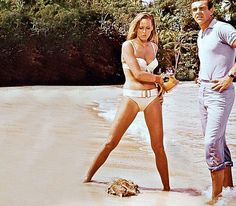 Jamaican idyll:Ursula Andress and Sean Connery in Bond film Dr No, filmed near Ian Fleming's island home.