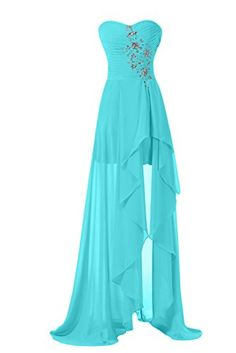 Sunvary High Low Strapless Chiffon Bridesmaid Evening Dre...