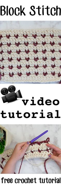 Block Stitch Crochet | Free Video tutorial and written pattern for this easy, stunning crochet stitch | From Sewrella