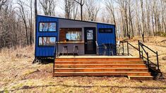 A modern/rustic getaway overlooking a secluded lake in Frontenac County Tiny House Big Living, Off Grid Cabin, Hiking Trails, Modern Rustic, Square Feet, Building A House, Shed, Outdoor Structures, House Styles
