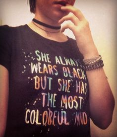 Black on the outside - colorful on the inside // Colorful Mind Girls Crop T-Shirt