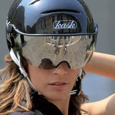 KASK Urban Lifestyle helmet. Its like a motorcycle helmet with visor, for cyclists!