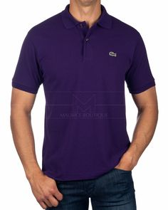 LACOSTE © Polo Shirt Tanzanite Purple | BEST PRICE Lacoste Polo Shirts, Online Shopping Clothes, Purple, Mens Tops, Shopping, Clothing, Viola