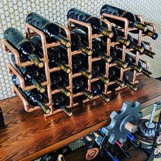 24 Bottle Copper Wine Rack
