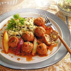 Risotto, 20 Min, Beef Recipes, Eat, Healthy, Ethnic Recipes, Carne Picada, Food, Homemade Meatball Recipes