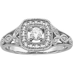 Omg just like mine!! Simply Vera Vera Wang Diamond Halo Engagement Ring in 14k White Gold...  ❤