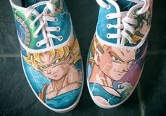 DragonballZ hand-painted shoes