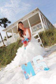 beach wedding props - Mine will say Senora :)