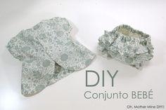 DIY Cómo hacer vestido y cubre pañal para bebé (patrones o moldes gratis) | | Oh, Mother Mine DIY!!